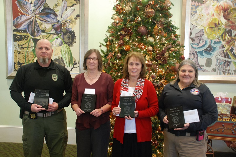 20 years – L – R  David Usher, Connie Hogan, Cathy Gooch, Cami Downey