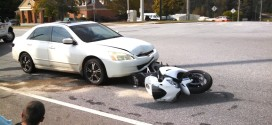 No Serious Injuries After Car Crashes Into Motorcycle