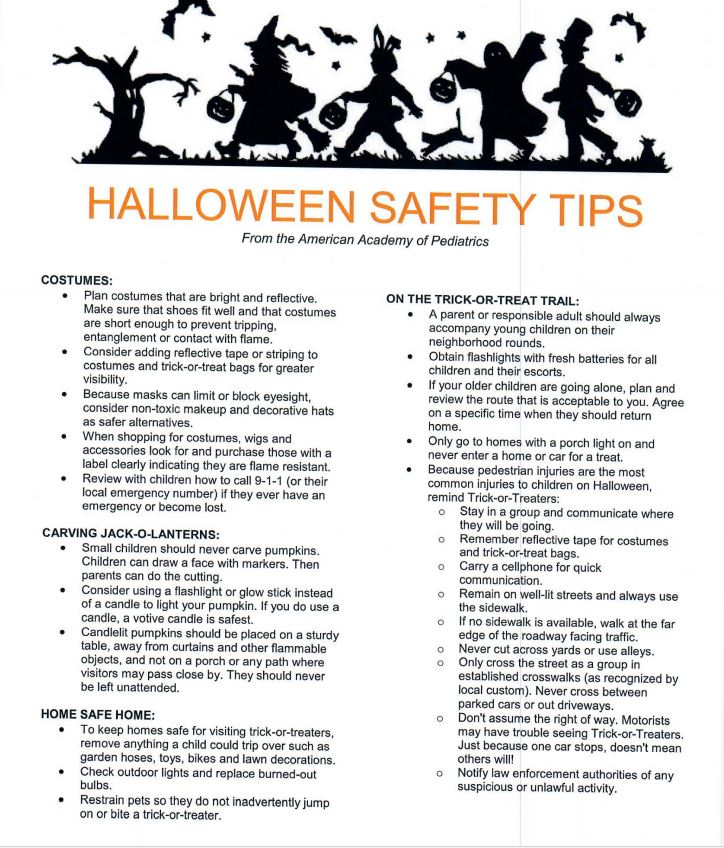 safety tips for halloween Halloween safety tips — follow simple guidelines to keep halloween safe and sweet.