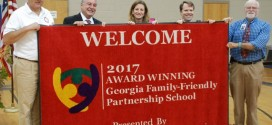 State School Superintendent Presents Family-Friendly Partnership Award  To MCES