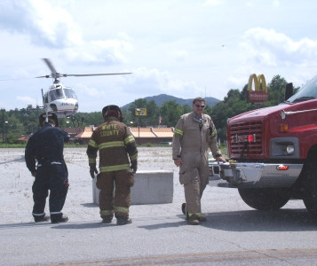 Second Day for LifeFlight Helicopter in Cleveland
