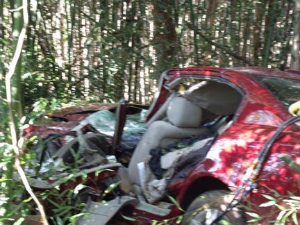 Update on Tuesday Single Vehicle Accident