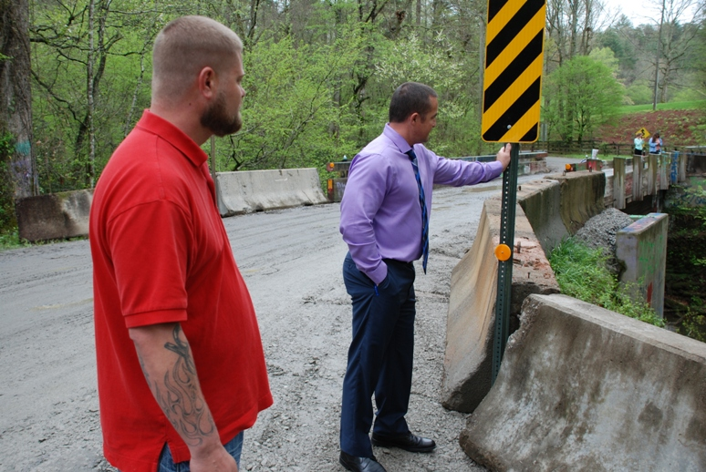 Safety Barriers In Place At Gene Nix Road