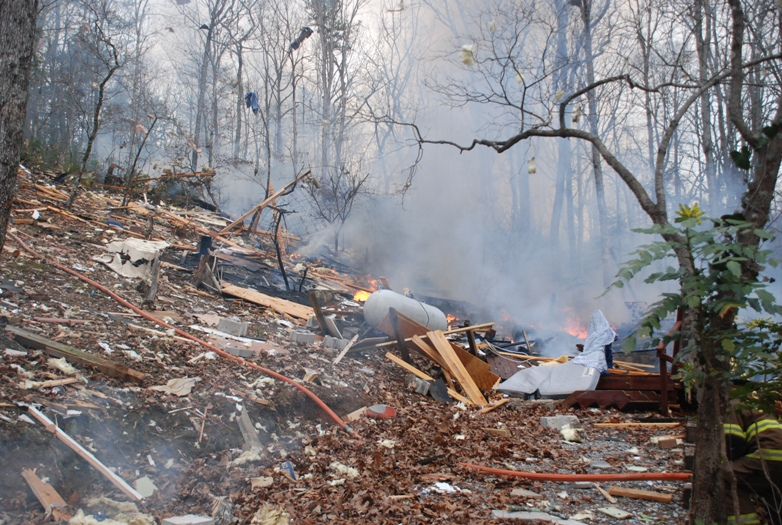 White County Home Destroyed By Explosion Friday Morning