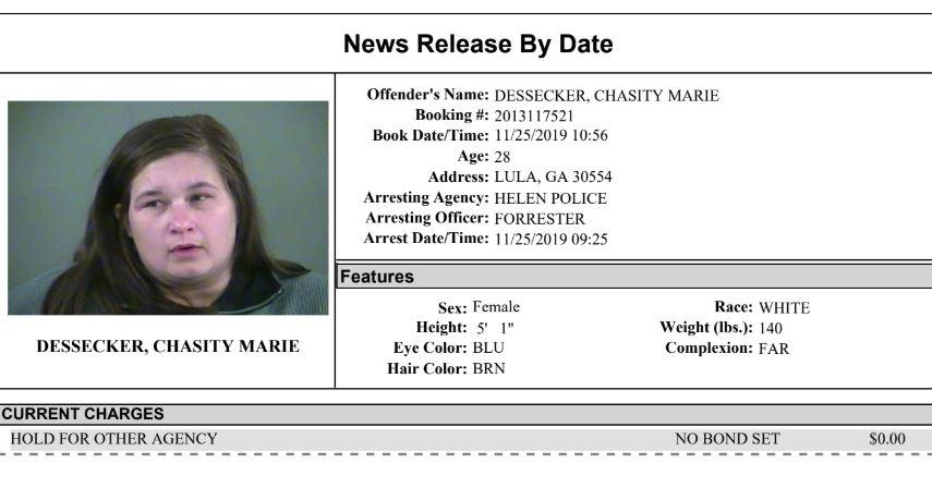 White County Detention Center Report Week Ending 11-26-19