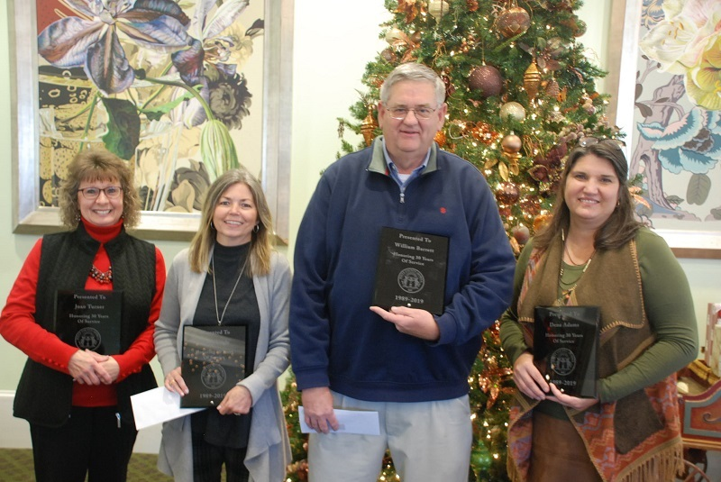 County Employees Recognized At Christmas Luncheon