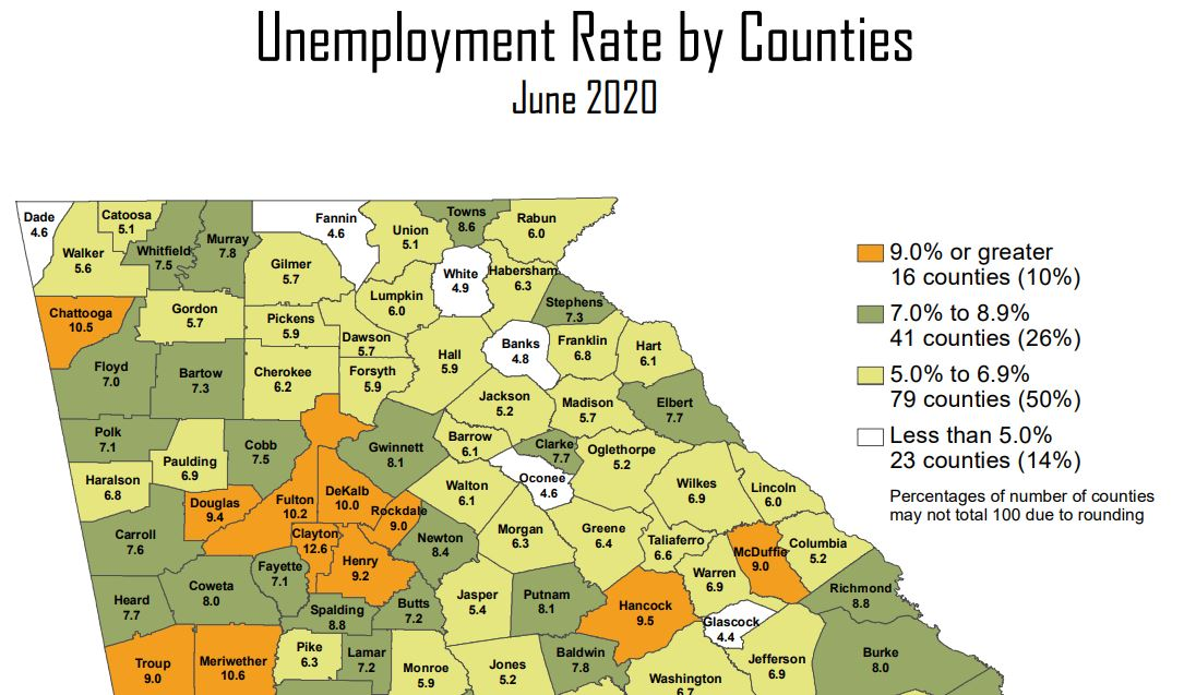 Unemployment Rate 4.9 Percent In White County