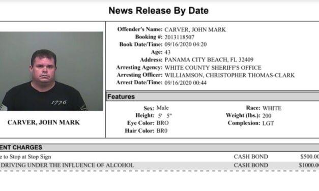 White County Detention Center Report Week Ending September 22