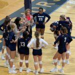 Lady Warriors Volleyball defeats North Hall Tuesday tonight 2-1