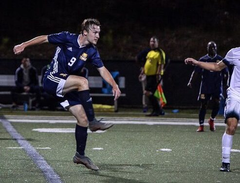 TMU Men's soccer falls to AAC reigning champs