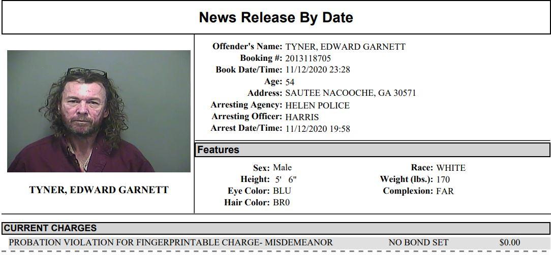 White County Detention Center Report Week Ending Nov. 17th