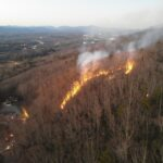 Long Mountain Fire Burns 15-20 Acres Wednesday